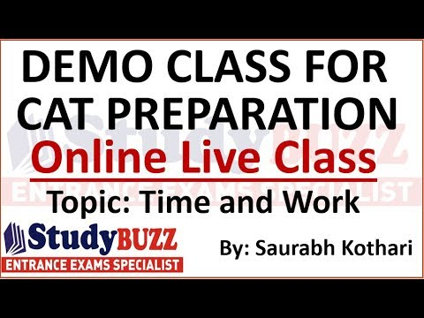 Demo class for online CAT/MBA course: Quants live class by Saurabh Kothari Sir