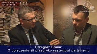 Wybory2015 Grzegorz Braun o próbie połączenia sił z innymi kandydatami na prezydenta #111