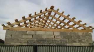 видео Двускатная крыша: конструкция и особенности установки