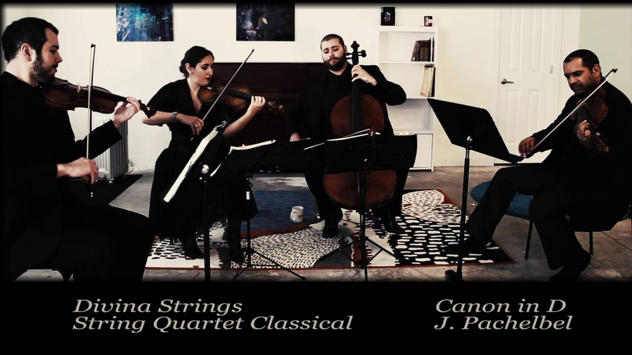 Canon In D- String Quartet- Classical Music For Walking