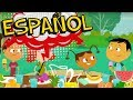 Learn SPANISH WORDS 😃 Oh Noah PBS games for kids 🌎 Spanish cartoon for childrens