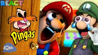 LUIGIKID REACTS TO: MARIO GETS HIS PINGAS STUCK IN THE DOOR BY SMG4