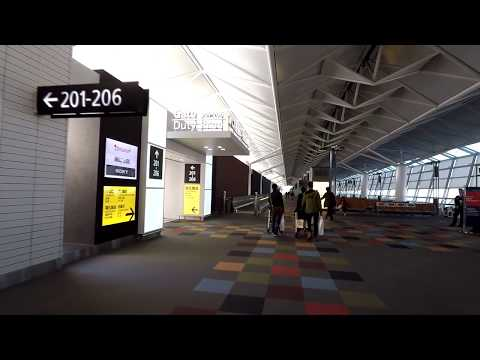 Walking around Nagoya Chubu Centrair Airport International Departures