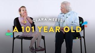 Kids Meet a 101 Year Old (Clara) | Kids Meet | HiHo Kids