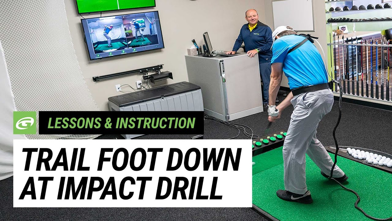 Video Drill: Trail foot down at impact for power - The GOLFTEC Scramble