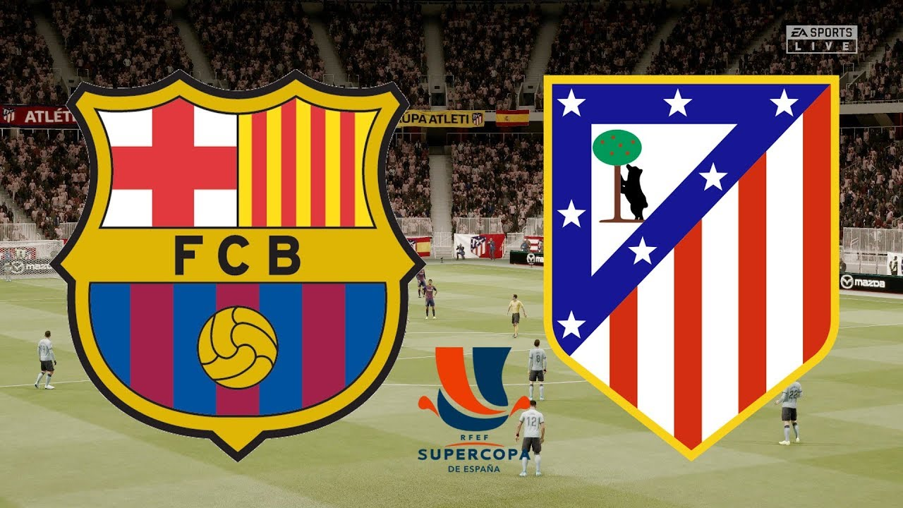 Supercopa De Espana 2020 Fc Barcelona Vs Atletico Madrid 09 01 20 Fifa 20 Youtube