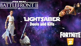 I LOVE Lightsaber Dueling | Battlefront 2 and Fortnite Highlights