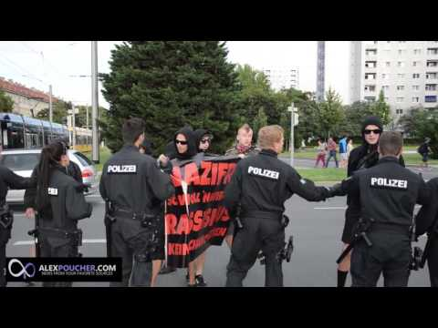 AntiFA Tries to Block PEGIDA in Dresden