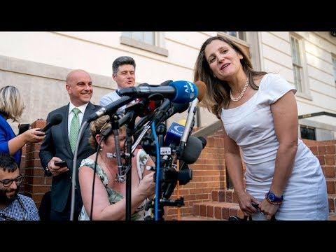 Chrystia Freeland says she's encouraged by progress on NAFTA talks