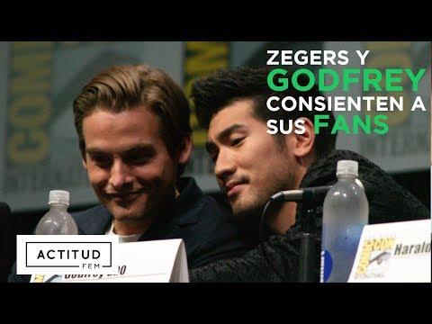 """Entrevista con Kevin Zegers y Godfrey Gao """"Malec"""" subtitulada Cazadores de Sombras Ciudad de Hueso"""