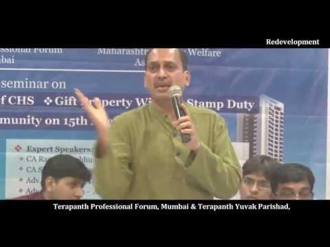 Shri. Ramesh Prabhu (CA) (Chairman -MSWA)  on Redevelopment