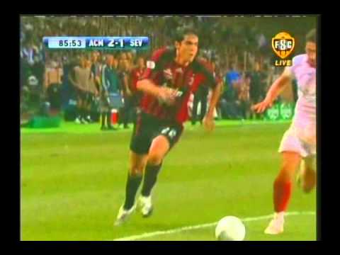 2007 August 31 AC Milan Italy 3 Sevilla Spain 1 UEFA Super Cup