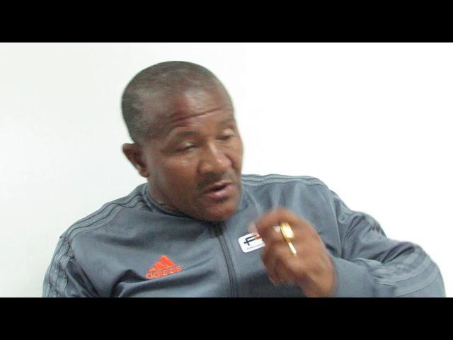Gustavo Pires falando sobre o jogo entre Guiné Bissau e Cabo Verde