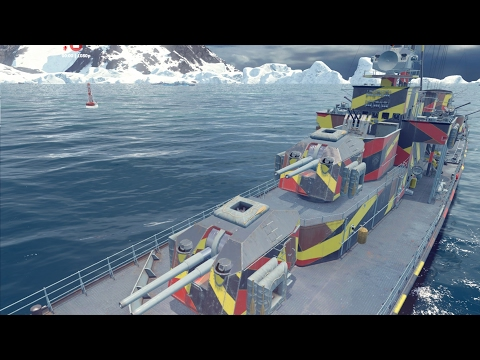 Z-52. Играть на команду - значит уничтожать эсминцы противника и светить торпеды для союзников.
