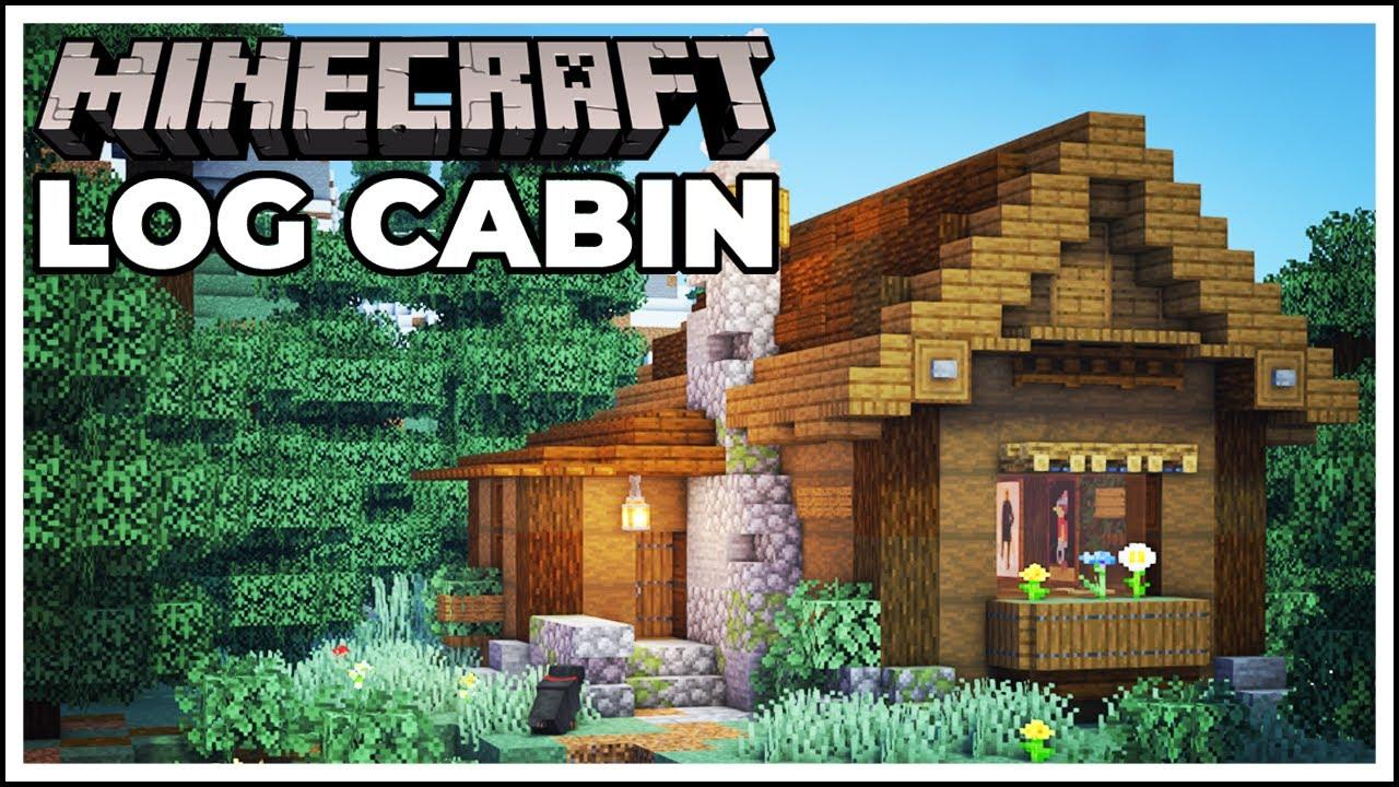Minecraft Log Cabin (Survival Starter House) - 15 Minute Build Challenge