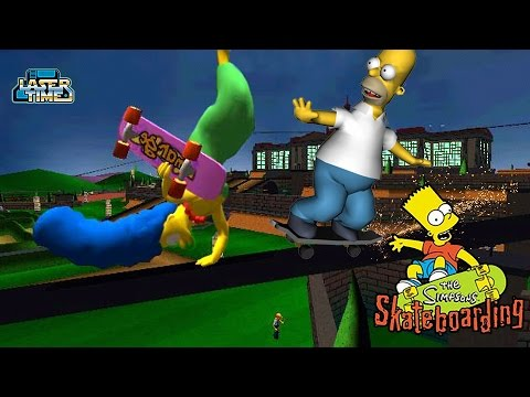 Simpsons Skateboarding - Gameplay