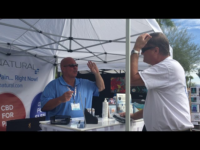 MyoNatural at the Fountain Hills Street Fair Promoting Our New CBD Spray