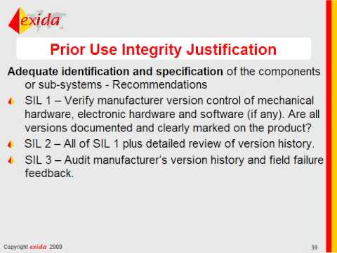 IEC 61511 - Equipment Justification - 61508 vs. Proven In Use