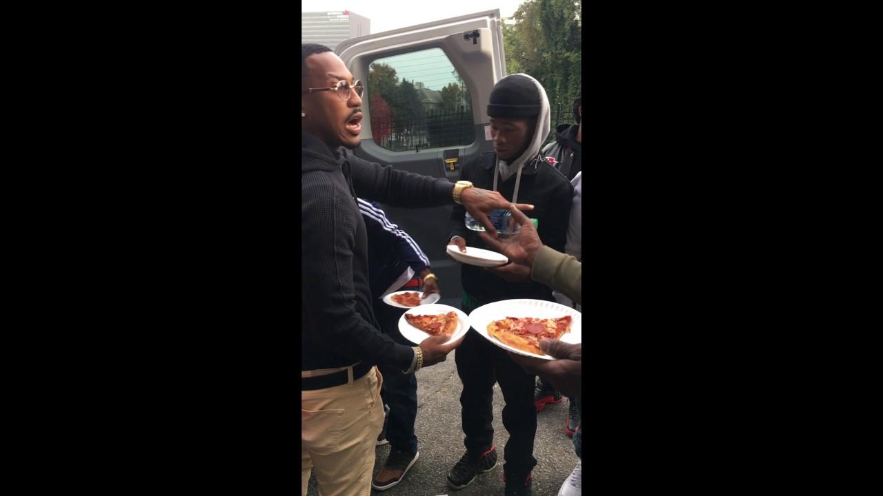 Atlanta Rapper Trouble Feeding The Homeless