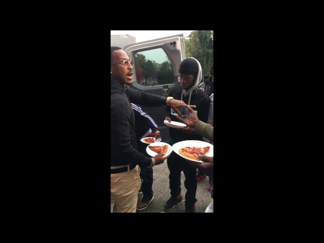 Atlanta Rapper Trouble Feeding The Homeless