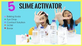 5 SLIME ACTIVATOR TUTORIAL ♥ Which one work the best ?