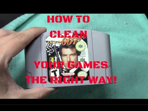 HOW TO CLEAN YOUR CARTRIDGE GAMES THE RIGHT WAY! (N64, SNES, NES, GENESIS)