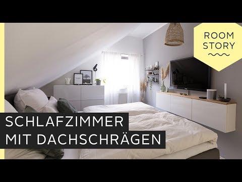 Schlafzimmer mit Dachschräge einrichten | Roombeez – powered ...