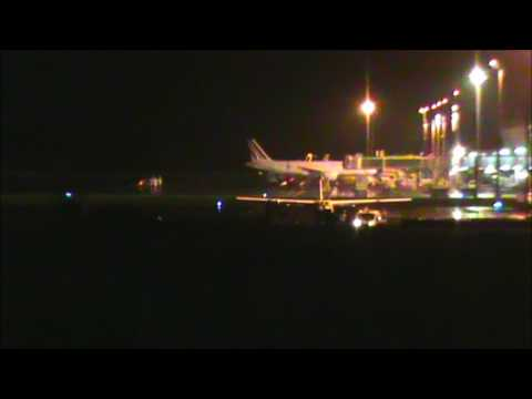 Air France A340 Night Departure from Guadeloupe