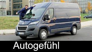 Peugeot Boxer L2H2 FULL REVIEW test driven (Fiat Ducato/Citroen Jumper) - Autogefühl