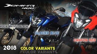 2018 Dominar 400 Colours | Canyon Red,Glacier Blue and Rock Matte Black | Happy Journey