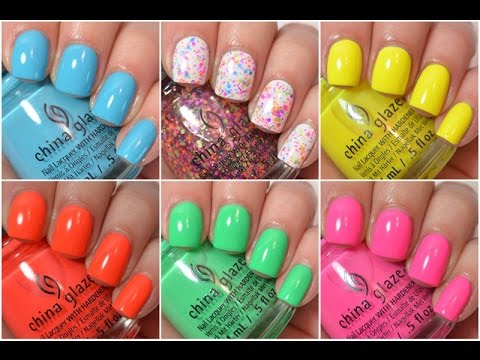 China Glaze Summer 2015 Swatch And Review | Electric Nights