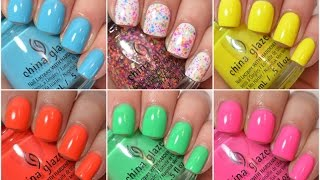 China Glaze Summer 2015 Swatch and Review   Electric Nights