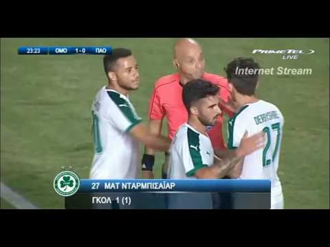 Matt Derbyshire - Omonia Vs Panathinaikos 11/8/16