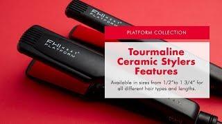 Platform Tourmaline Ceramic Flat Irons - Sizes & Features