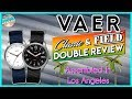 Great USA Microbrand! | VAER Field & Classic 100m Swiss Quartz Microbrand Unbox & DOUBLE REVIEW!
