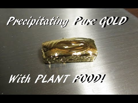 Precipitating Pure Gold With Plant Food Copperas