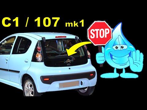 Citroen C1 Water Leak / Citroen C1 Leaking Boot