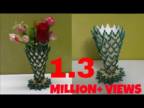 Recycling Art and Crafts Ideas: How to make Flower Vase Show piece