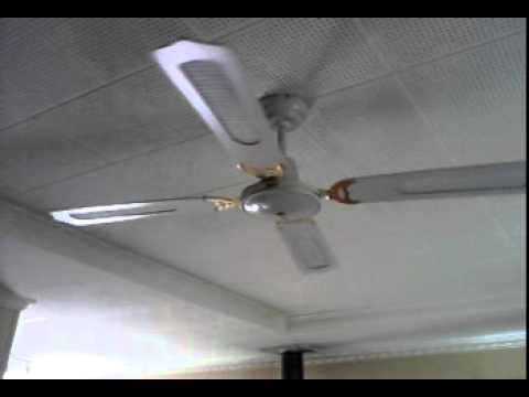 The ceiling fan stops spinning. - YouTube