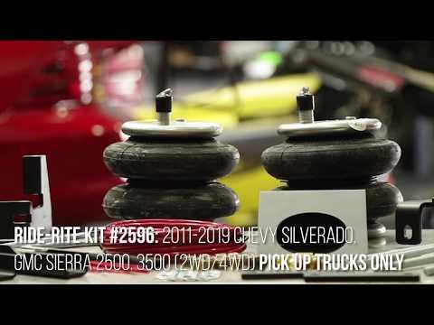 Ride-Rite Install: Kit 2596 2011-2019 Chevy Silverado GMC 2500 and 3500