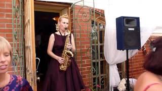 Свадебная регистрация под звуки саксофона