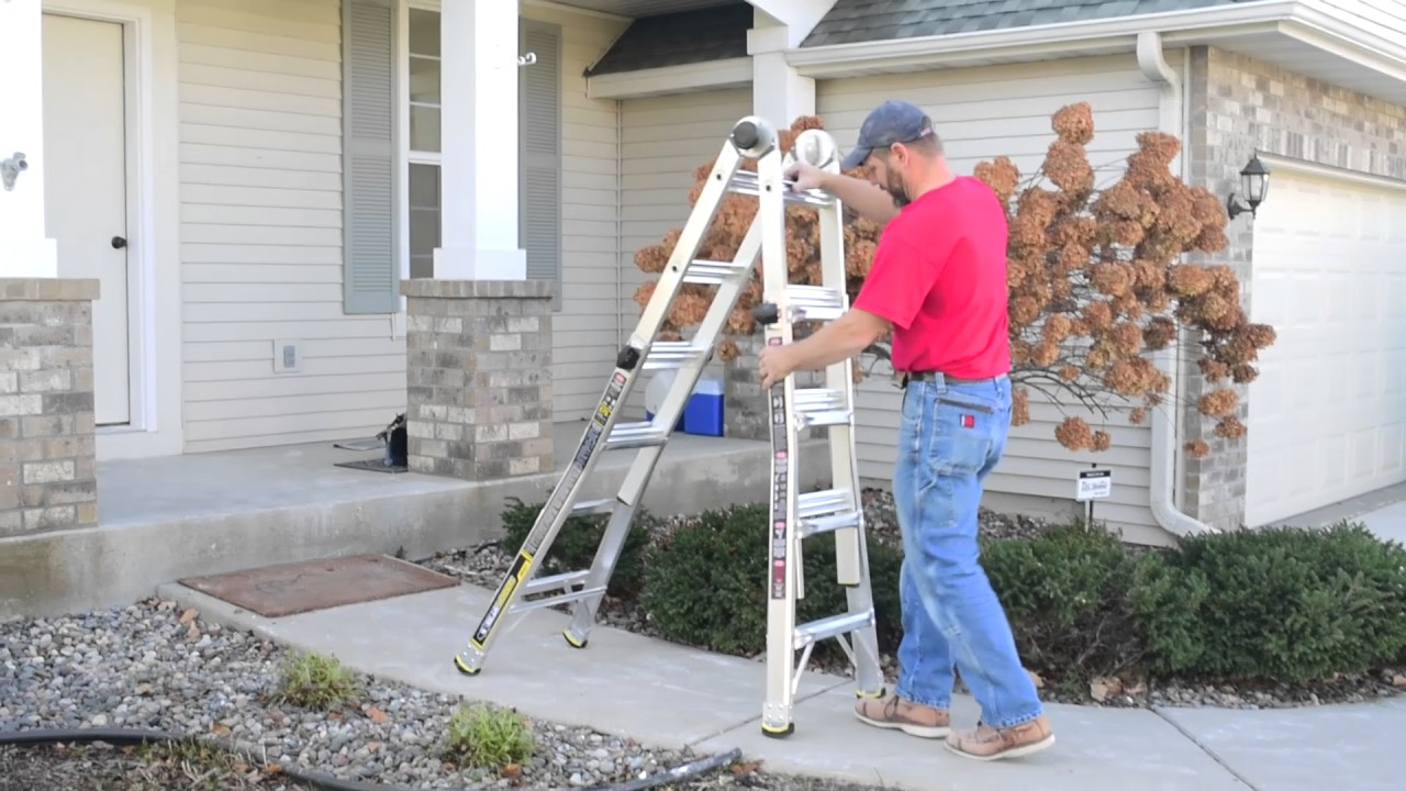 Gorilla Ladders 17 Ft Mpx Aluminum Multi Position Ladder With 375 Lb Load Capacity