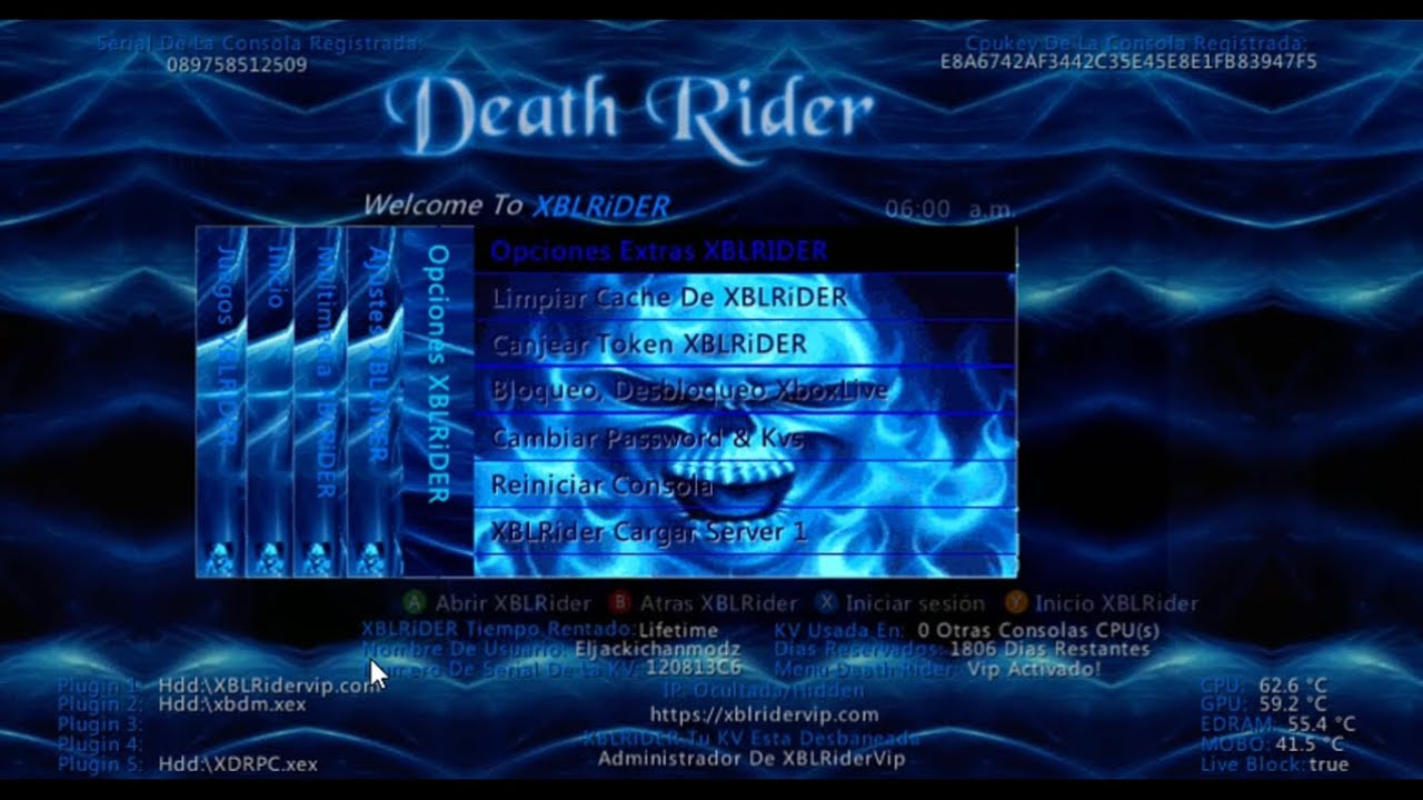 RECOVER XBLRIDER PASSWORD | XBLRIDER SERVER XBOX 360 DASH