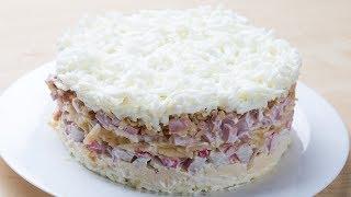 Салат «Снежная Королева» Вкусный, простой салат за 20 минут