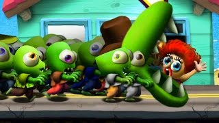 Zombie Tsunami 2 Игровой мультик для детей про зомби, веселый детский мультик игра для малышей.