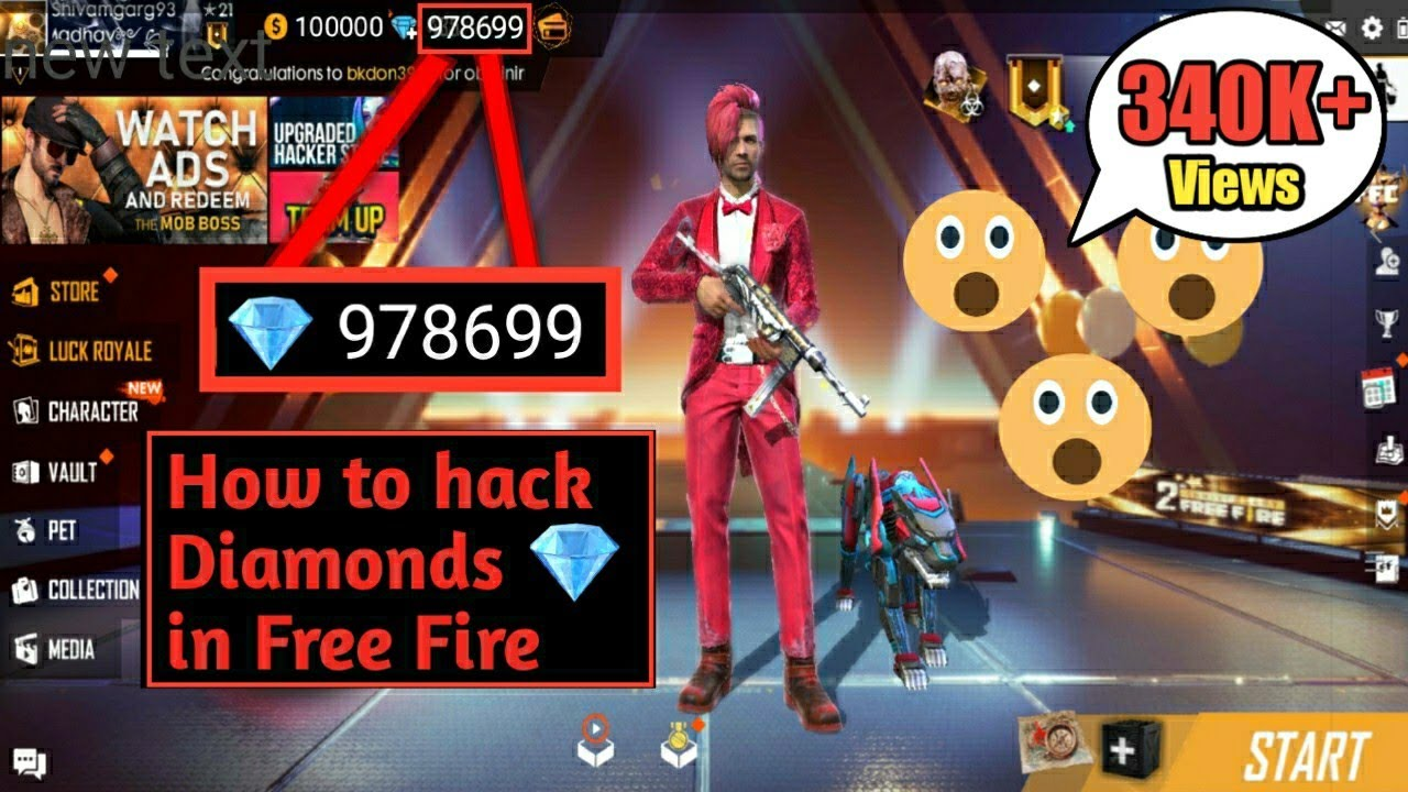 How To Get Unlimited Diamonds 99999 In Free Fire Game Youtube