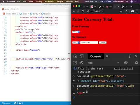2.2 HTML, CSS, & JS Currency Converter | Sierra