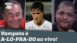 """""""O Corinthians consegue ser FREGUÊS do Guaraní do Paraguai!"""" Vampeta é A-LO-PRA-DO ao vivo!"""
