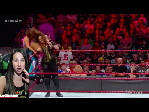 WWE Raw 4/17/17 Fatal 4 way Women #1 Contender