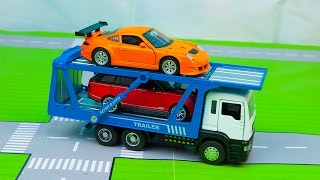 Мультик про машинки - 190 серия:  Авария, Гоночная машина, Эвакуатор, Полиция